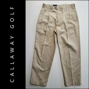 Callaway Golf Men Double Pleated Pants Size 32